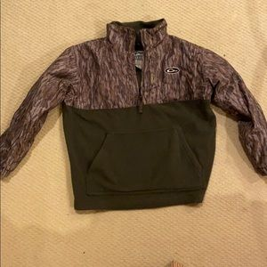 Drake Waterfowl 1/2 Zip Pullover Jacket Youth Camo